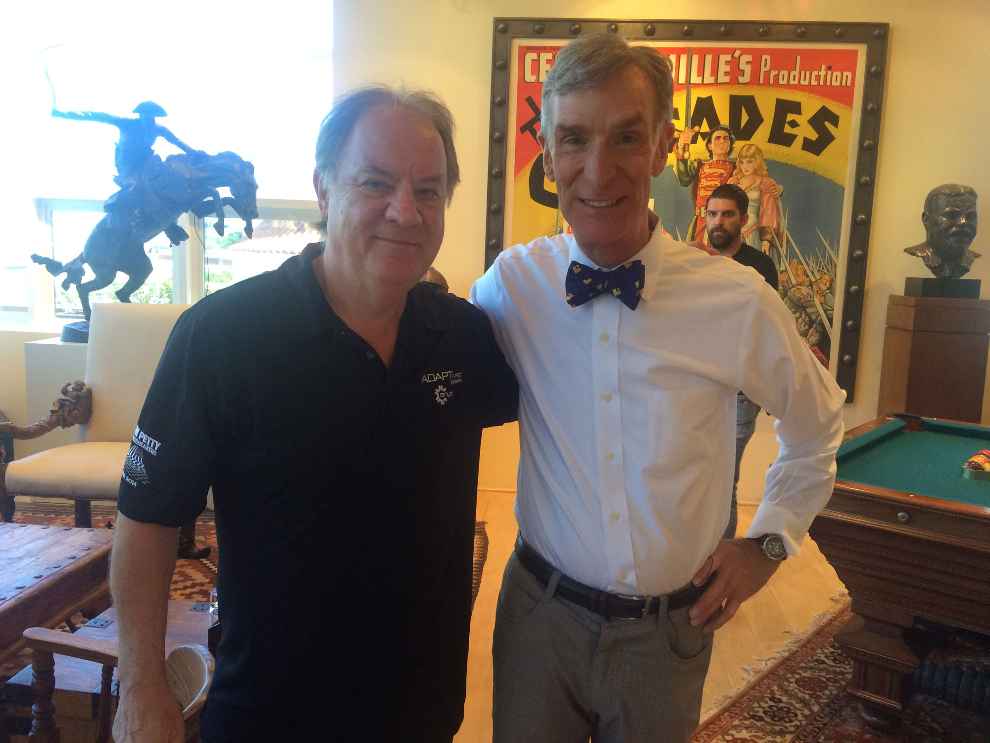 Mick Walker with Bill Nye
