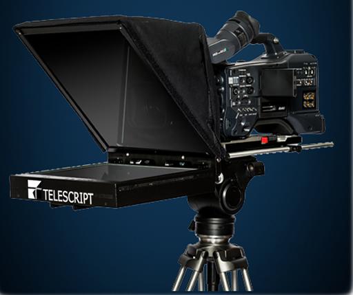 Standard on camera prompter mount