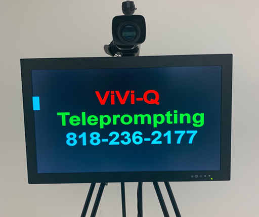 Direct View Prompter with ViVi-Q Teleprompting